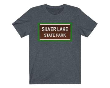 UpNorth Tee - SILVER LAKE (Michigan State Parks) - Michigan Shirt - State Park T-shirt - Mears, Michigan