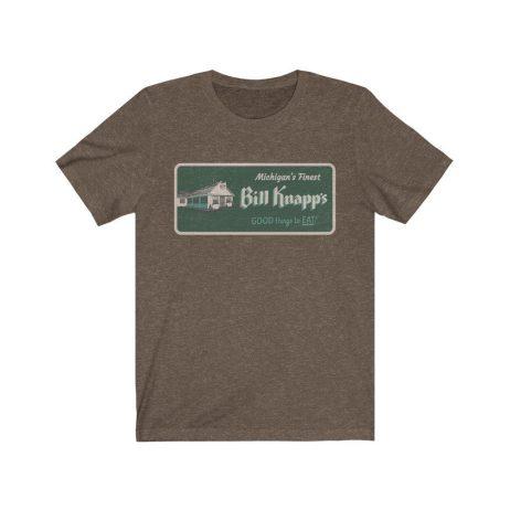 UpNorth Tee - Bill Knapps  Restaurant Vintage Sign (Michigan Nostalgia Collection) - Michigan Shirt - Free Shipping