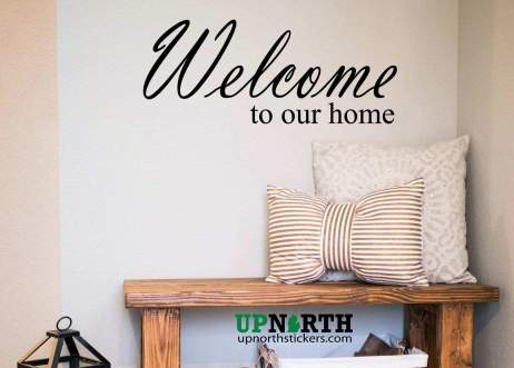 Welcome to Our Home - Custom Vinyl Wall Decal - Multiple Sizes and Colors