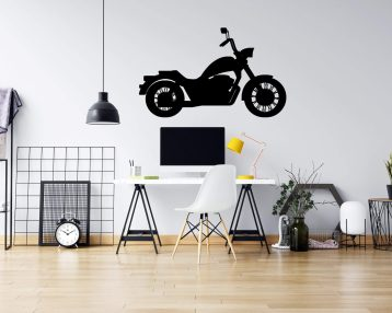 Motorcycle  - Cruiser - Vinyl Wall Decal - Free Shipping
