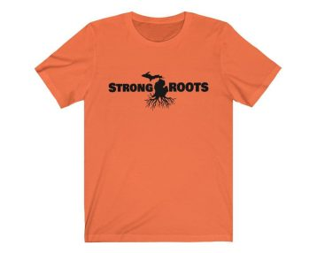 UpNorth Tee - Strong Michigan Roots - Michigan Shirt - Free Shipping