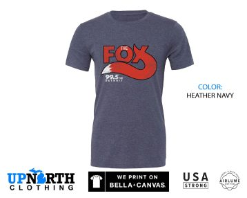 UpNorth Tee - The Fox Radio - 99.5 The Fox - Vintage Detroit Radio Station Shirt - Free Shipping