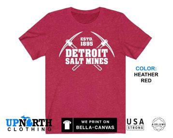 UpNorth Tee - Detroit Salt Mines - Pickaxes - Detroit Michigan Shirt - Free Shipping