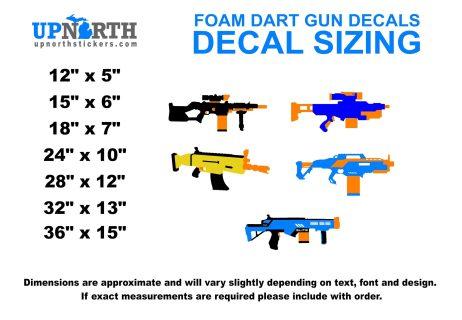 SMG - Foam Dart Gun - Custom Vinyl Wall Decal - Made - to Order - Free Shipping