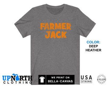 UpNorth Tee - Farmer Jack Shirt (Vintage Print) - Defunct Store - Michigan Nostalgia - Free Shipping