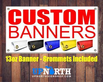 """Custom Vinyl Banner - 13oz Banner - 24"""" Tall - 4, 5, 6, 8 or 10 FT Wide"""