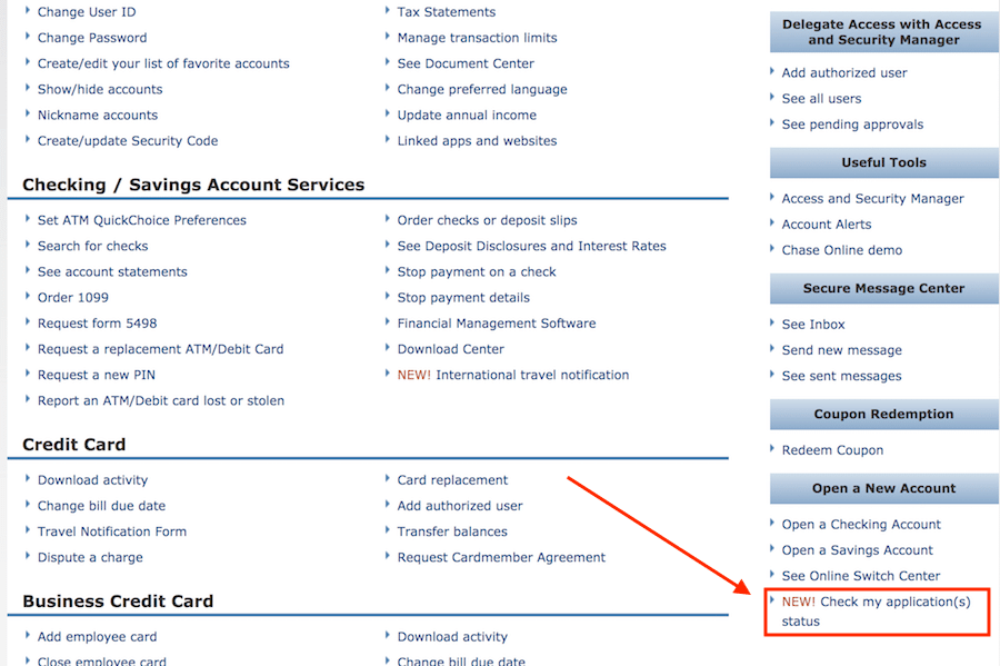 Chase credit card application status inviletter chase credit card application status how to check 30 days 7 10 reheart Images