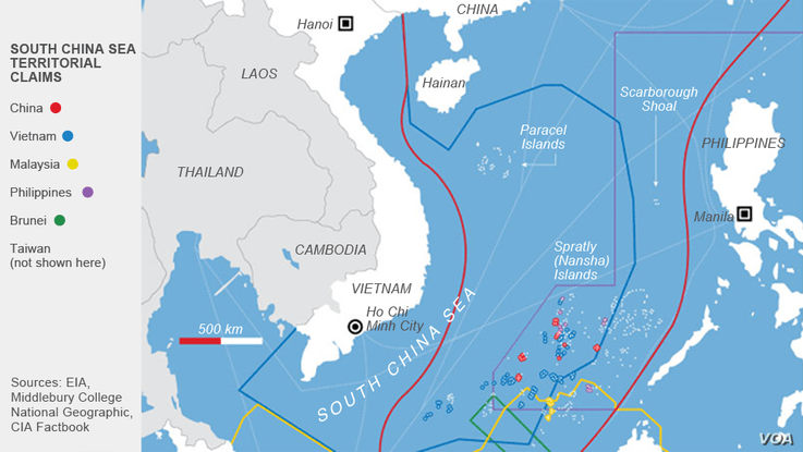 Map of South China Sea Territorial Claims