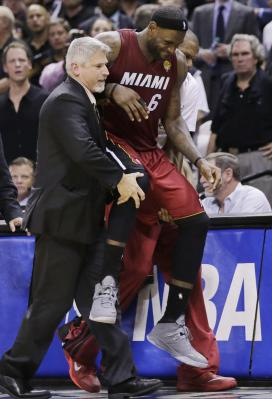 LeBron carried off Finals Game 1