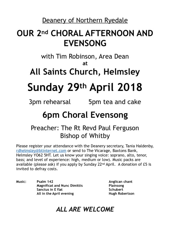 Deanery Choral Afternoon