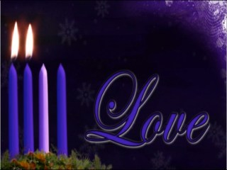 adventlovecandlebackground