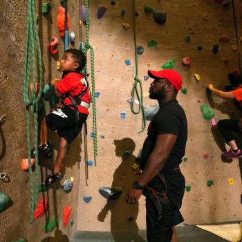 family climbing upper limits indoor rock climbing gym st. louis