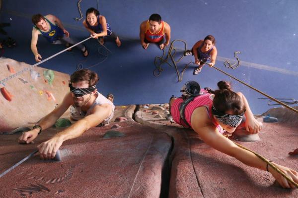 team building challenge upper limits downtown st. louis best indoor rock climbing gym
