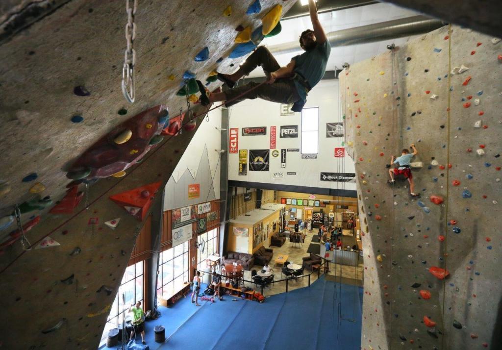 lead wall climber upper limits indoor rock climbing gym
