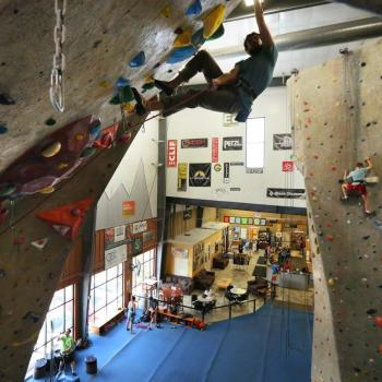 lead wall climber upper limits indoor rock climbing gym