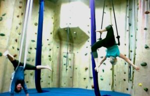 aerial fitness classes yoga exercise upper limits indoor rock climbing gym downtown st. louis 2