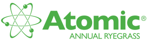 Atomic Annual Ryegrass Logo with Atoms