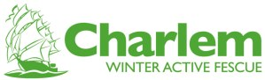 Charlem Winter Active Fescue Logo with Ship
