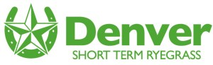 Denver Short Term Ryegrass Logo with a sherif star