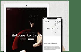 Larch - WordPress Theme Multi-Purpose Minimal Sensitive - 1
