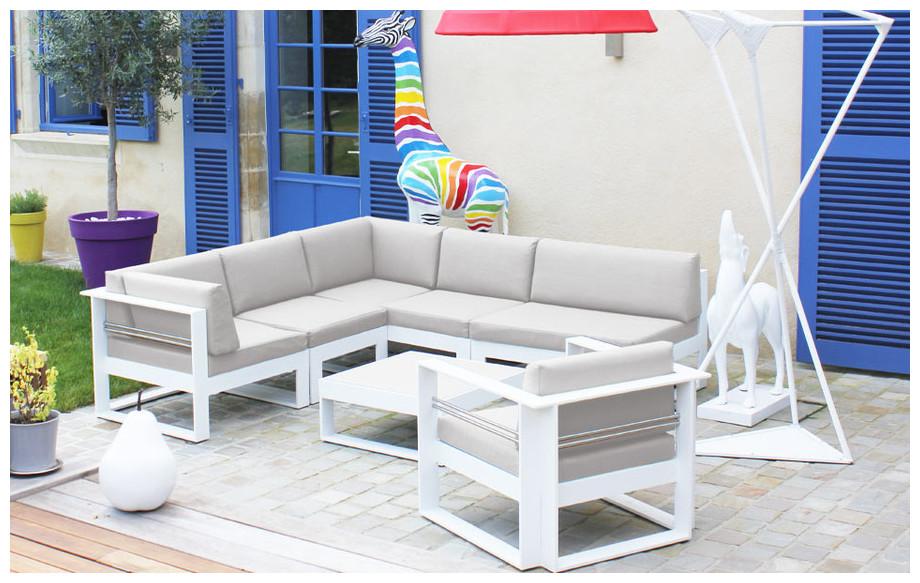 salon bas de jardin en aluminium brisbane beige chine