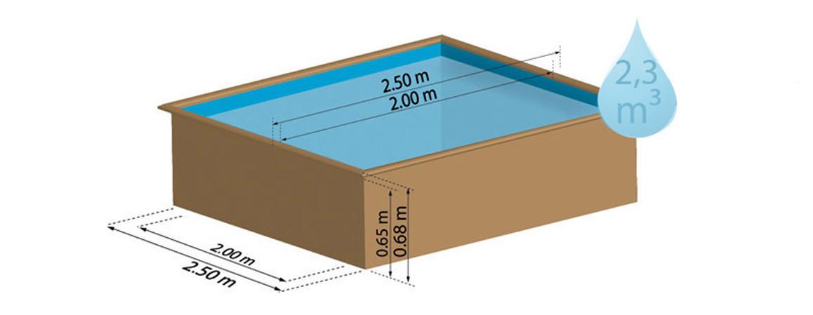 kit piscine bois carree sunbay