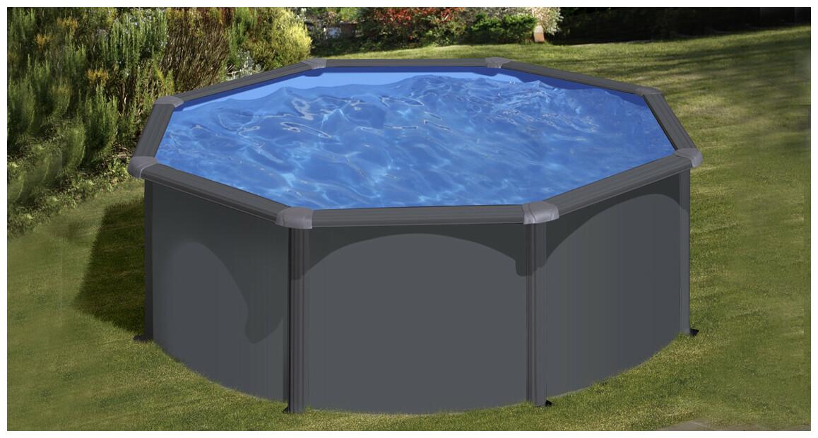 gre piscine acier gris anthracite en