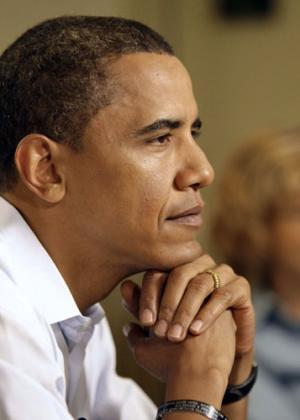 Obama thoughtful