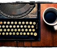 typewriter and coffee