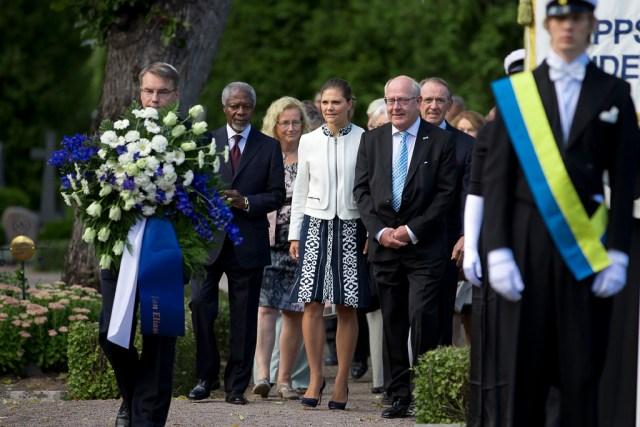 Kofi Annan, Kronprinsessan Victoria, Peter Egardt och Jan Eliasson