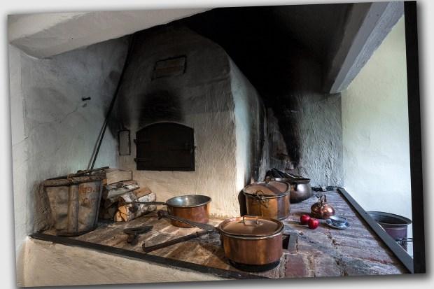 Interiörbild från köket vid Linnés bostad