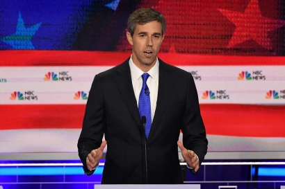 Democratic presidential hopeful Beto O'Rourke, a former US Representative for Texas' 16th congressional district, participates in the first Democratic primary debate of the 2020 presidential campaign at the Adrienne Arsht Center for the Performing Arts in Miami, June 26, 2019.  JIM WATSON / AFP