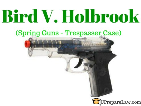 Bird V. Holbrook,Plaintiff the wrongdoer,General defences in torts law
