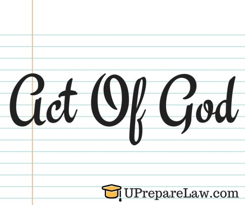 Act of God in General Defences in Torts Law Notes