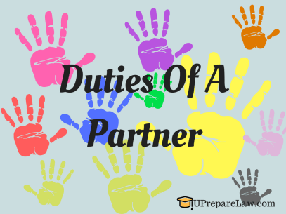 Rights and Duties of a Partner inter se.