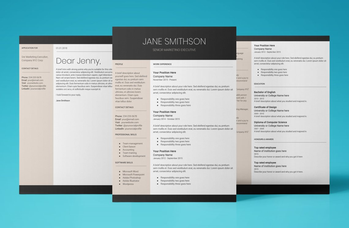 Easy To Edit Resume Template That WonT Let You Down