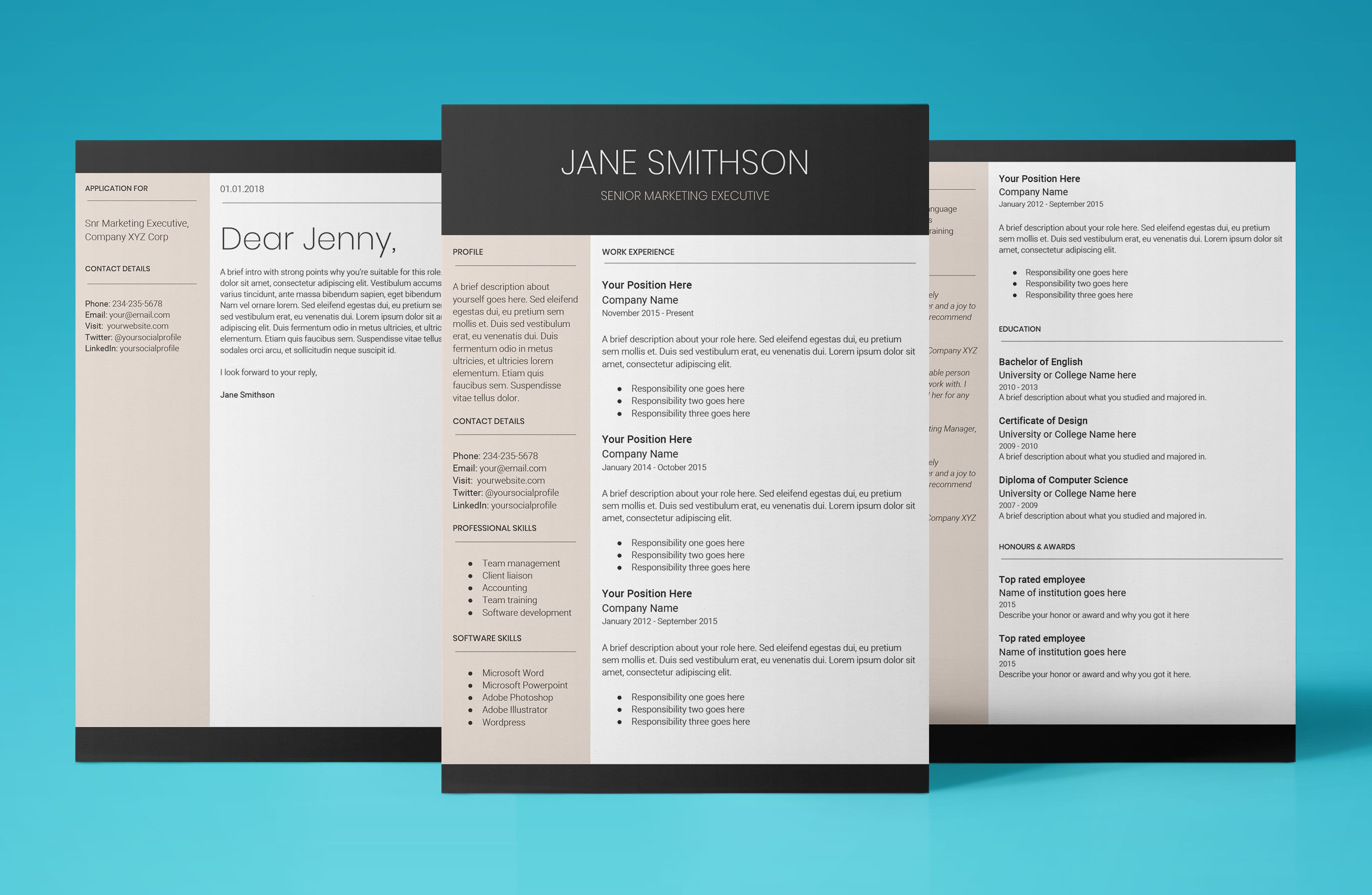 Easy To Edit Resume Format Download Use Template Today 2018