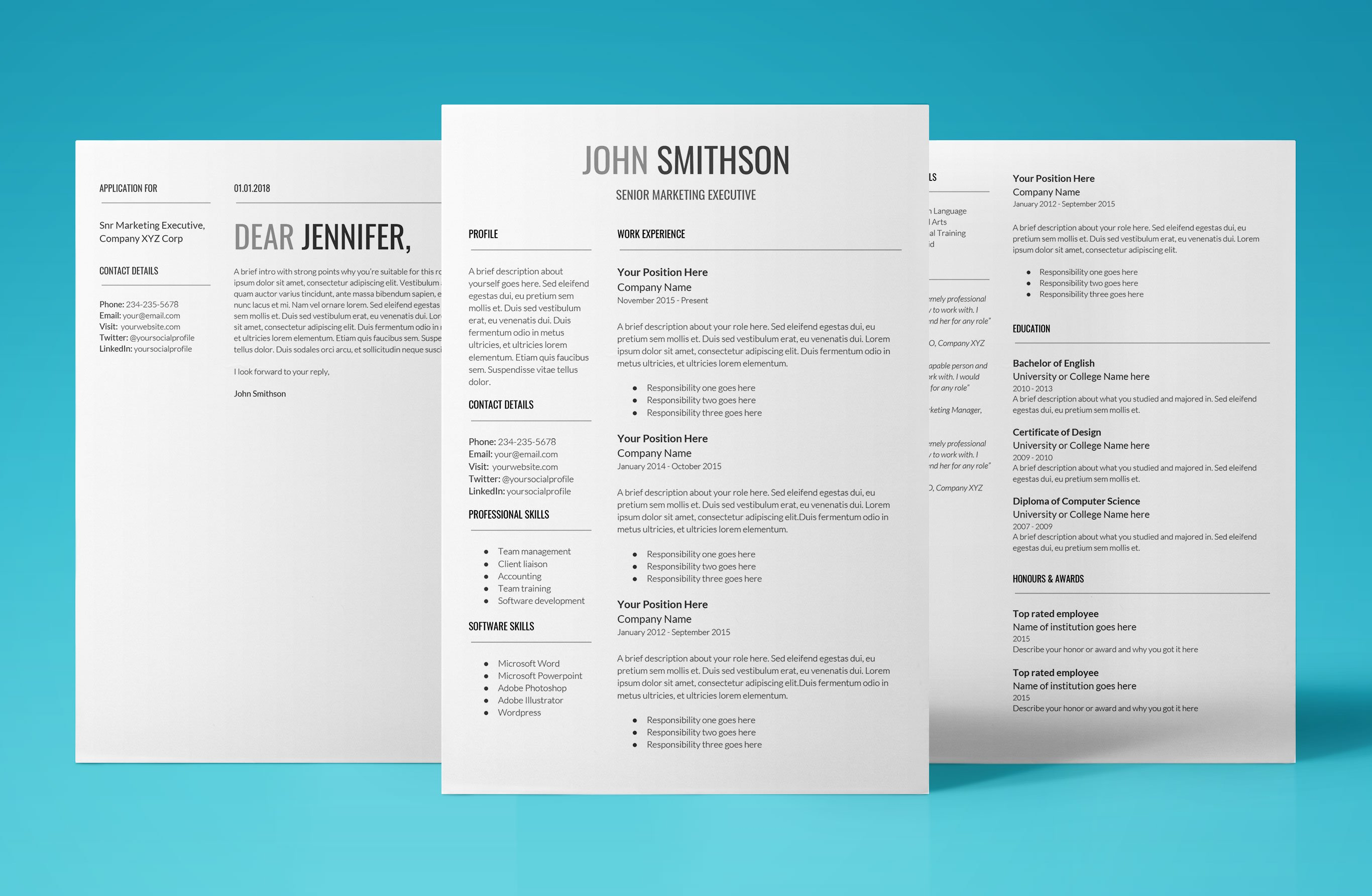 Proxima Resume Template  Google Doc Resume Template