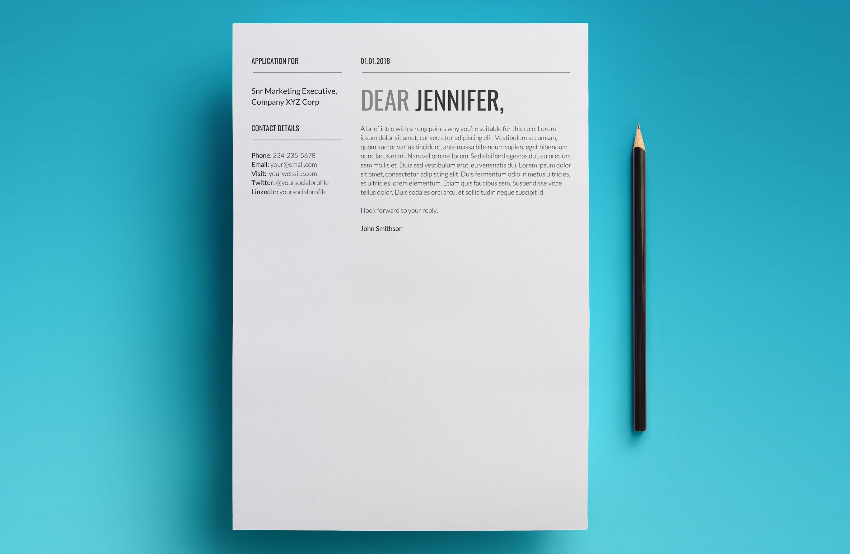 cover letter resume cv template download use today 2018