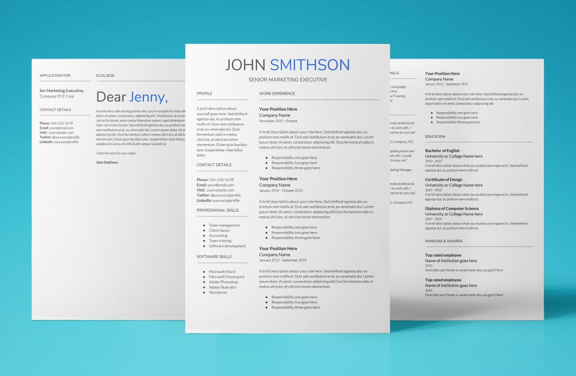 elegant resume template that shouts hire me now