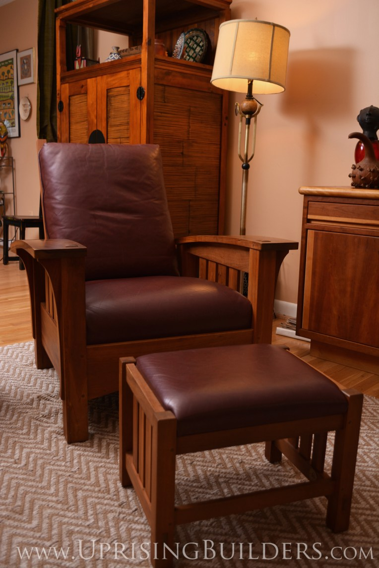 Chair made by the artisans at Stickley Furniture