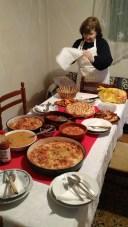 Finishing setting the table