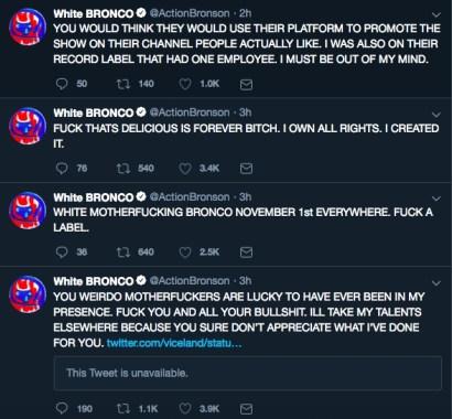 Action Bronson Angrily Responds To 'Viceland's Salt Bae Tweet