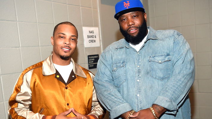 T.I. And Killer Mike Hand Out Food Donations In Their Atlanta Hometown