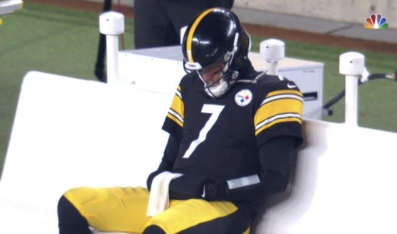 Sad Ben Roethlisberger On the Bench Became NFL Fans' New Favorite Meme