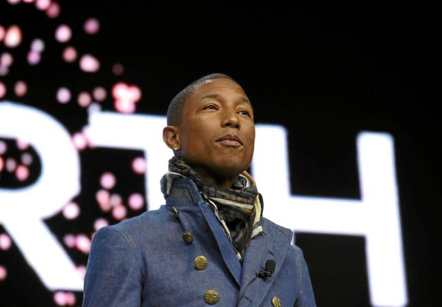 Pharrell Williams in Davos Live Earth