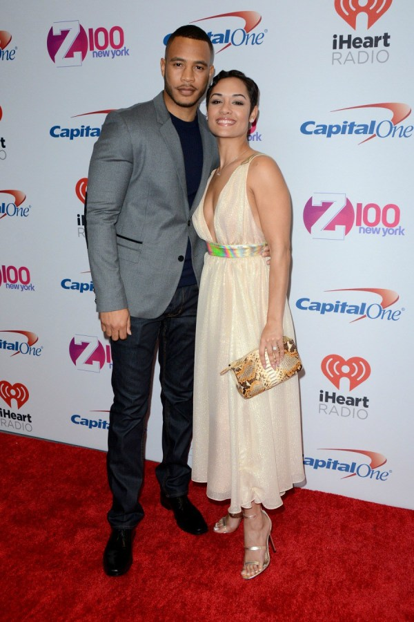 Z100's iHeartRadio Jingle Ball 2015 - Red Carpet Arrivals Featuring: Trai Byers, Grace Gealey Where: New York, New York, United States When: 11 Dec 2015 Credit: Ivan Nikolov/WENN.com