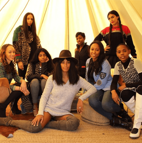 Solange Knowles and her empowering tribe of friends that include Melody Ehsani, Shiona Turini and Melina Matsoukas