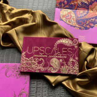 Upscales Suede Folio Branding Invitation