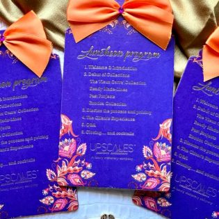 Program Cardstock with Ribbon
